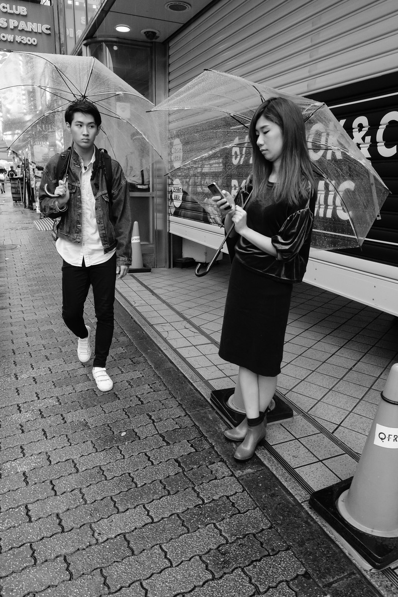 Street Photography Prime Time In New York With The Fujifilm Xf 23mm Camera 8s Instax Shanghai Girl I Love How Guy Looks At Young Lady On Right A Very Telling Expression Which Gives Hunt Phrase Extra Dimension