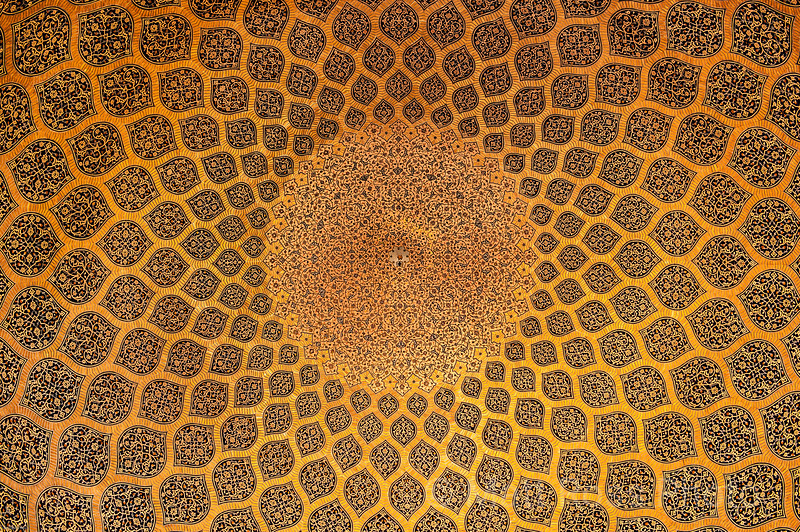 DOMED CEILING TILES, SHEIKH LUTF ALLAH MOSQUE
