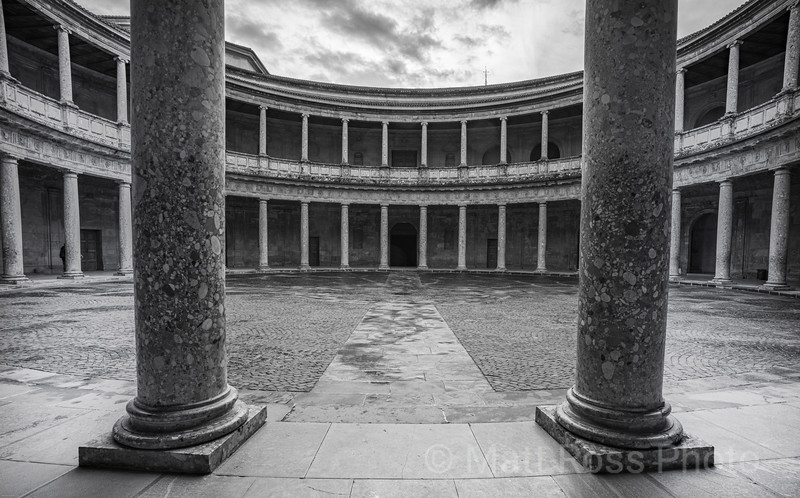 COURTYARD, THE PALACE OF CHARLES V, ALHAMBRA