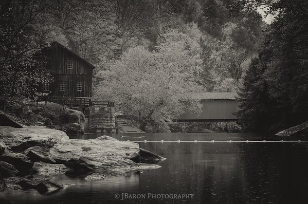 Upstream from the Mill in Monochrome