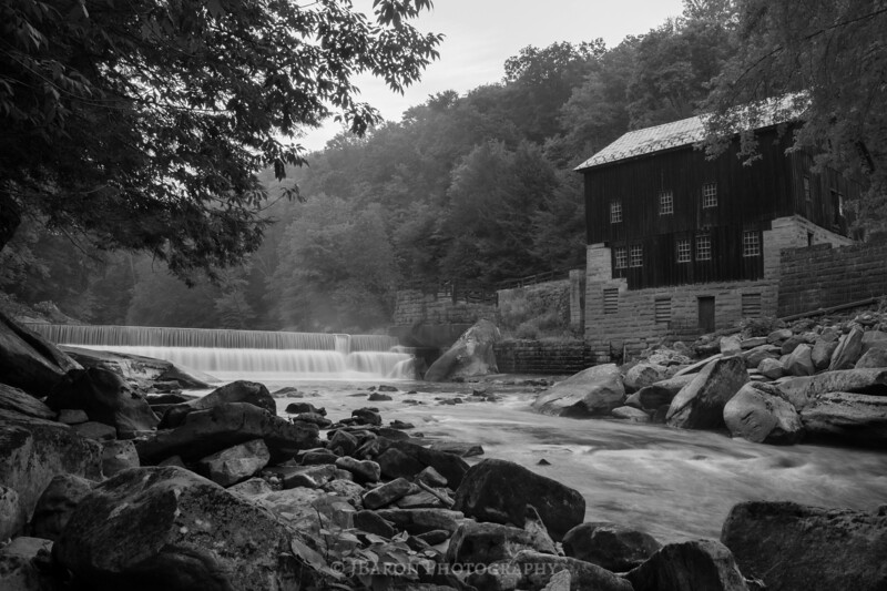 Summer Morning at McConnells Mill - Monochrome