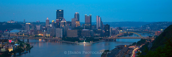 Pittsburgh Skyline at Blue Hour