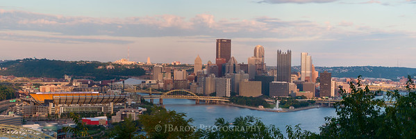 Pittsburgh Skyline in the Late Afternoon