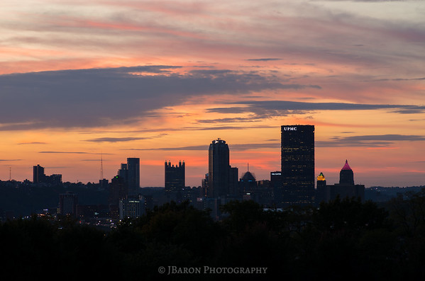 Pittsburgh Skyline after Sunset