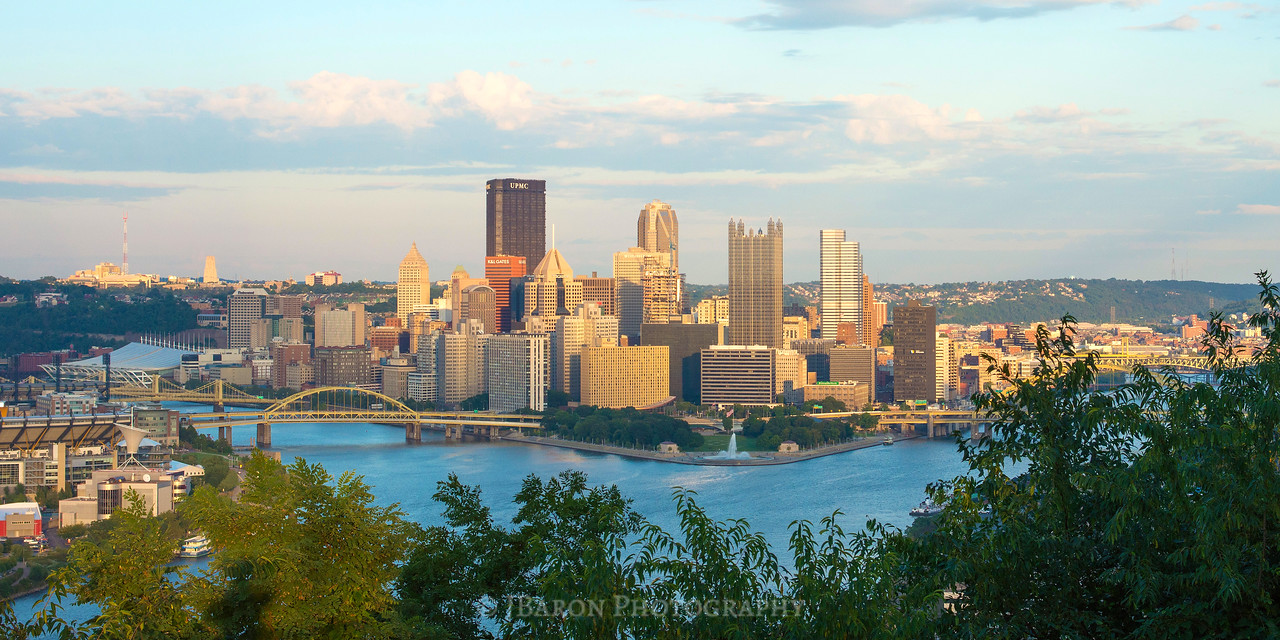 Pittsburgh Skyline in the Early Evening