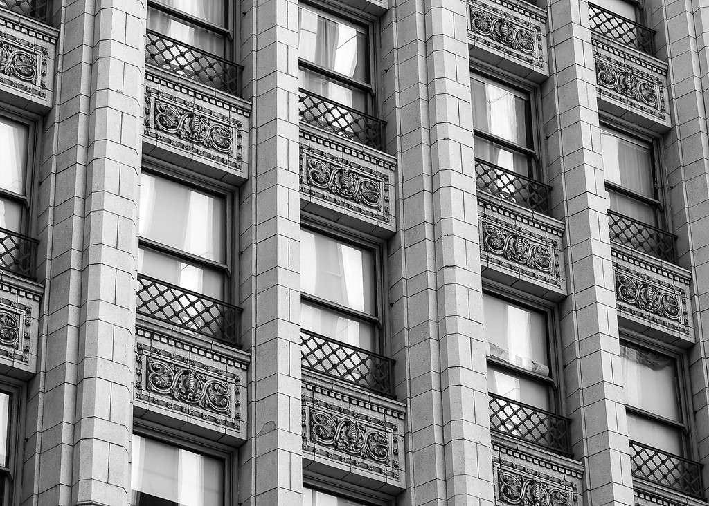 Building detail, downtown Los Angeles