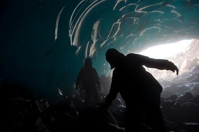 Underneath Mendenhall Glacier, Juneau, Alaska