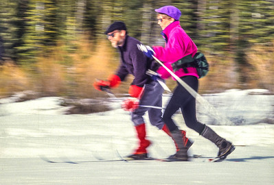 Cross-country skiers in Big Cottonwood Cyn near Salt Lake City, UT - 1 - 72 ppi