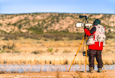 Photographer at Bosque del Apache Nat'l Wildlife Refuge, NM - 2 - 72 ppi