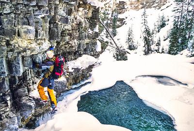 Ice climbers near Big Sky, Montana - 3-2 - 72 ppi