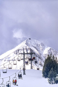Skier(s) at Big Sky, Montana - 7-2 - 72 ppi