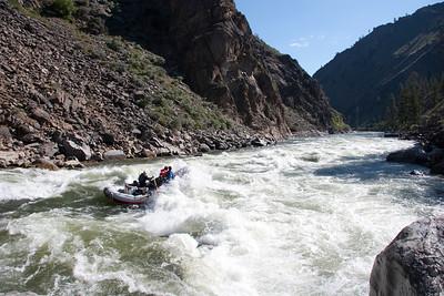 Rubber Rapid for an 18-foot oar boat at 6 feet.
