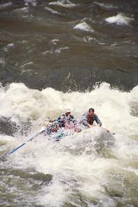 Punching through Tappan Falls at five (ish) feet.