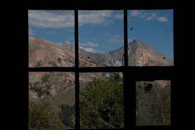 Mcintyre (left) and Jacqueline Peak from inside the Pio Cabin.