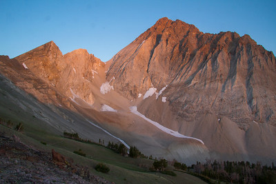 White Cloud Wilderness - Boulder White Cloud Mountains - Sunrise on the east face of Castle Peak.