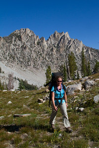 Hiking among Slender Paintbrush (Castilleja Gracillima) above 9000 feet in the north lobe of Alpine Creek Canyon.