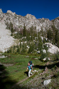 Following the un-maintained trail up the northern lobe of Alpine Creek Canyon.