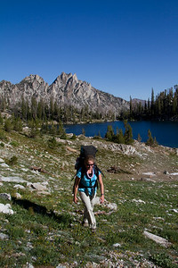 One of several un-named lakes in the Alpine Creek basin, Sawtooth Mountains, ID.