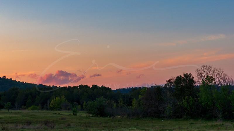 le coucher du soleil à la Provence | sunset at Provence