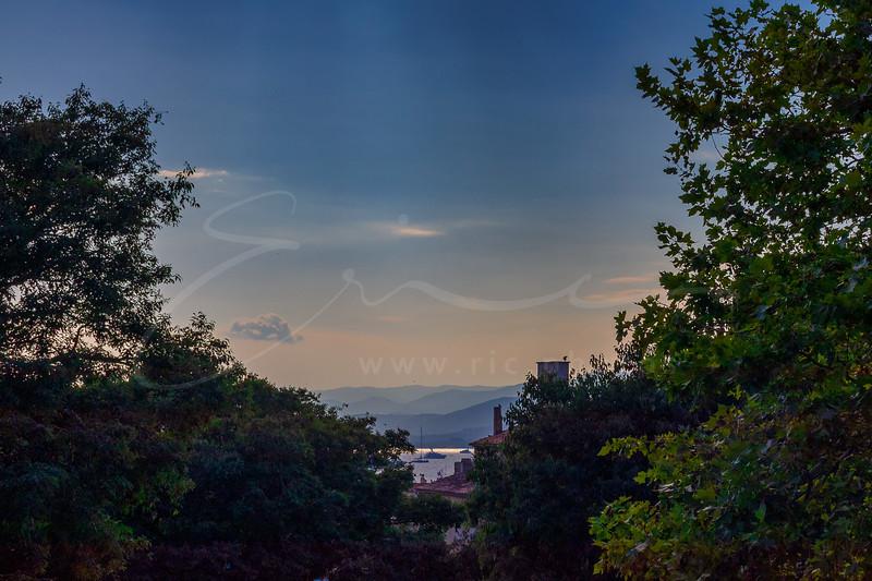 la vue de la citadelle de Saint Tropez