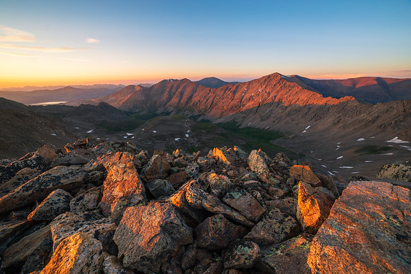 Mt. Democrat Sunset