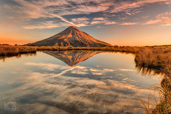 Sunset on Taranaki