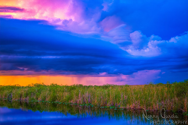 Sunset Storms in the Everglades
