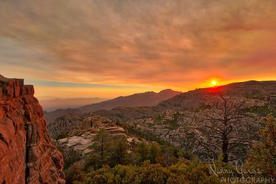 Sunset above Tucson