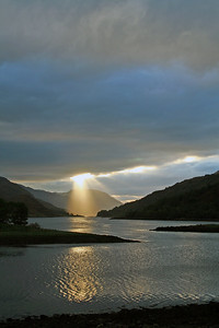Sun rays over Loch Leven