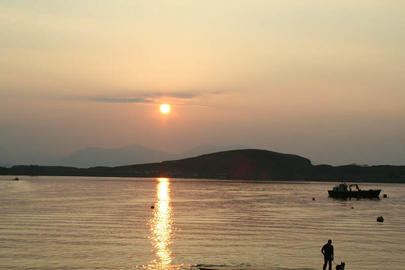 Sunset over Oban