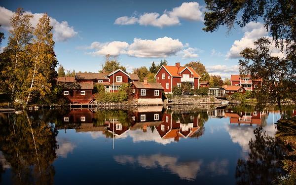 Autumn on the Sundbornsån, Sundborn