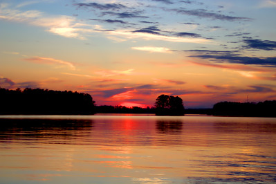 Brilliant Sunset at Lake Sinclair, GA