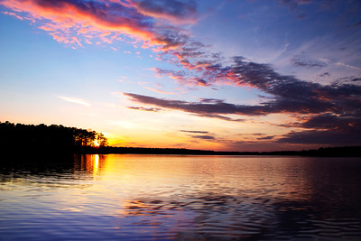 Sunset Over Beautiful Lake Sinclair, Ga