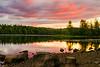 Dusk on Lake Harris in the Adirondacks