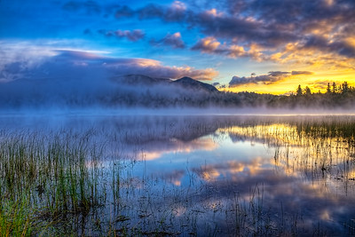 Dawn on Connery Pond, near Lake Placid