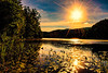 Sunrise on Eagle Lake, Adirondack Mountains
