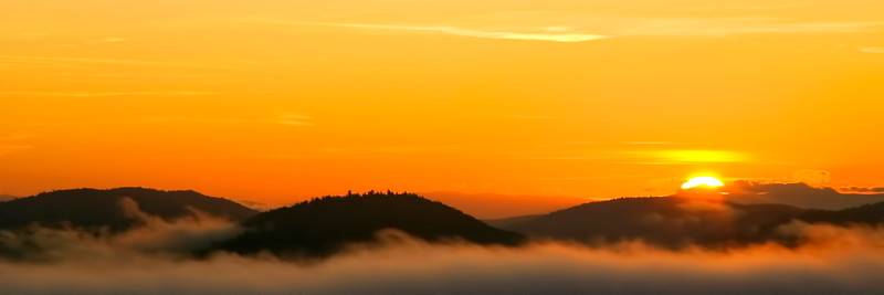 Sunrise from Severence Mountain in Schroon Lake