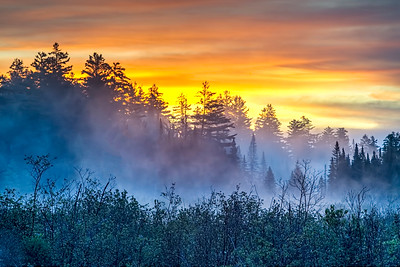 Adirondack Sunrise and Mist