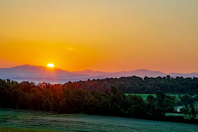 Sunrise over the Vermont Green Mountains from The Champlain Valley