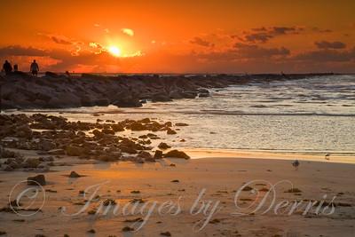 Sunrise at Port Aransas  Jetty