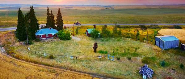 Sunset over the Farm // Felt, Idaho