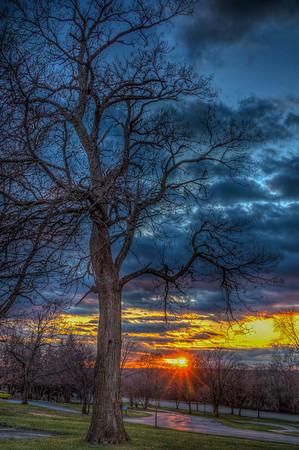 Dellwood Park Sunset HDR-December 18, 2015