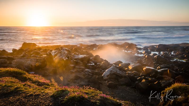Sun Shining on the Coast of Yachats Oregon