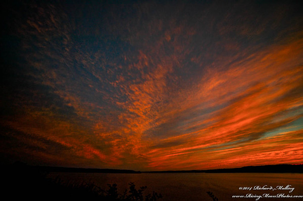 Jordan Lake NC Sunset Sept 14