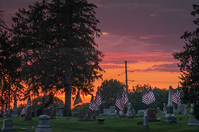 """The Flags of Our Fathers"" - Graceland Cemetery in Knoxville, Iowa"