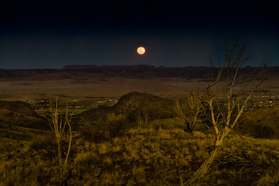 Moonrise Over Fort Davis