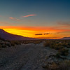 Looking northwest up Owens Valley during sunset.