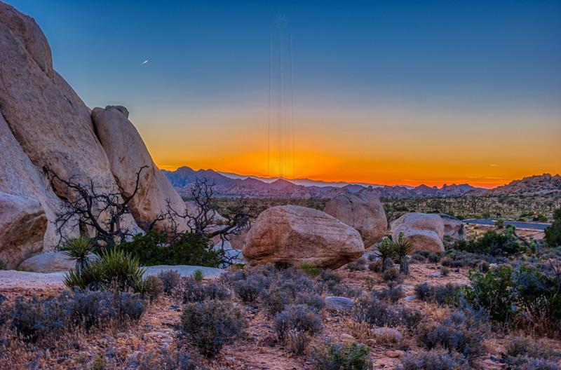 Just set Sun casts glow on horizon.