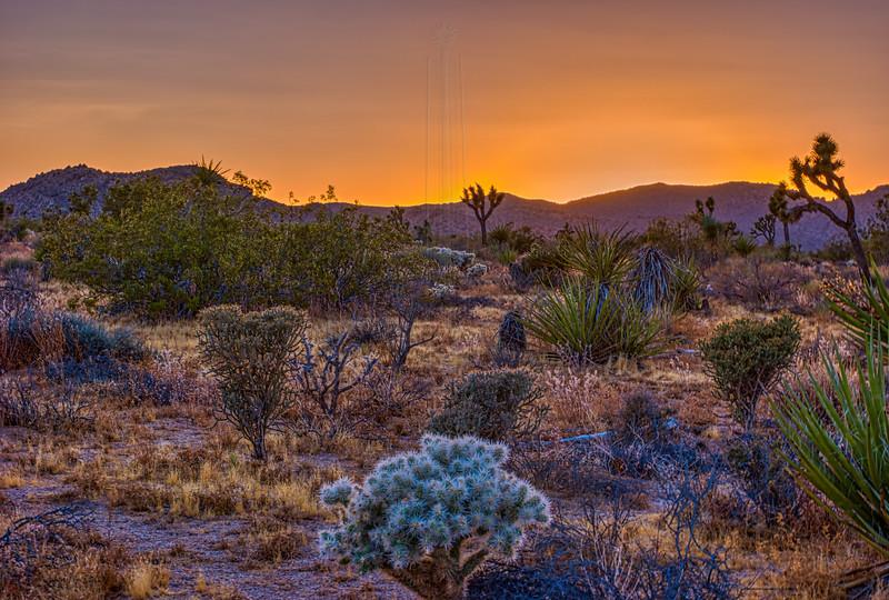 Set Sun lights up High Desert Sky.