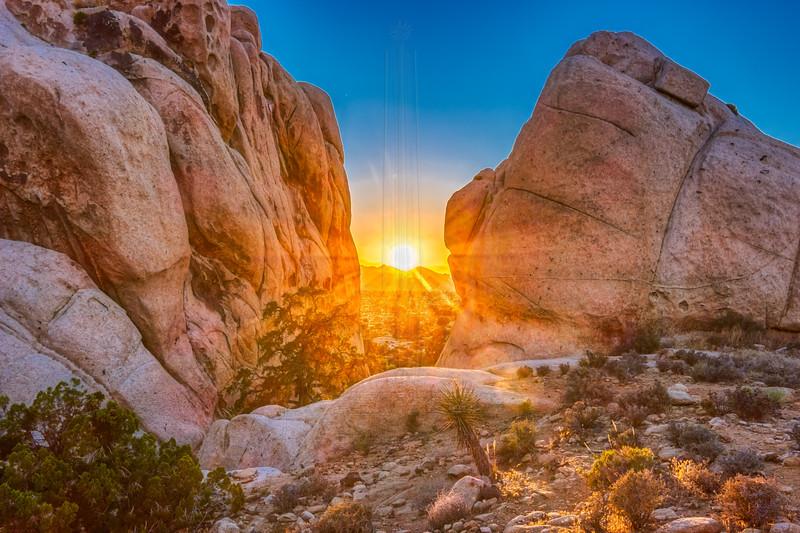 Sunset @ Ryan Mountain Trailhead.
